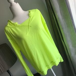 NWOT--NEON yellow pullover